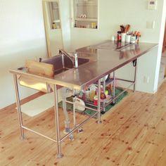 ステンレスキッチン/Kitchen…などのインテリア実例 - 2015-04-27 22:10:06   RoomClip(ルームクリップ)