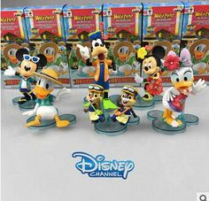Disney Products Cute Cartoon Mickey Mouse Donald Duck Action Figures 6 Cm Model Dolls Juguetes Brinquedos 6 Pcs/Set Zy023