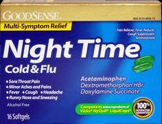 Good Sense Nitetime Cold & Flu Liq Gels 16ct Case Pack 6