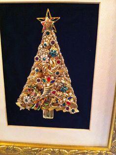 christmas tree collage tree jewel