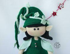 Elf doll knitted flat Knitting pattern by Simplytoys13 Boucle Yarn, Elf Doll, Lang Yarns, Plymouth Yarn, Cascade Yarn, Paintbox Yarn, Dog Sweaters, Red Heart Yarn, Yarn Brands