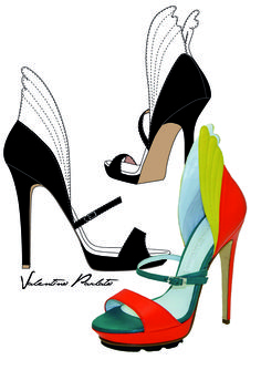 Mario Valentino S/S 2015 #shoes #fashion #heels #design #leather #sketch #wings #Icarus