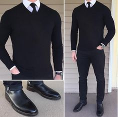 """fae361a913a8 The Stylish Man on Instagram  """"Sharp black look from  chrismehan"""""""