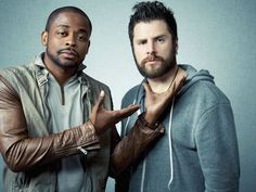 'Psych's' James Roday and Dule Hill...I love psych!!!!!!