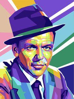 Frank Sinatra Digital Art by Stars-on- Art Caricature, Frank Sinatra Art, Illustration Pop Art, Don Corleone, Pop Art Portraits, Pop Art Posters, New York Art, Medium Art, Bunt