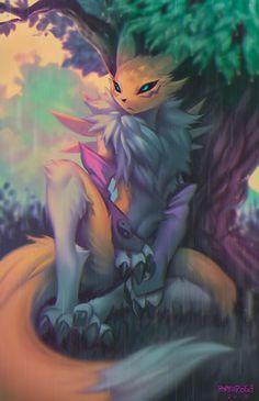 """renamon sits out the rain 🌧️"" Digimon Adventure Tri, Yiff Furry, Anime Furry, Anime Kunst, Anime Art, Character Art, Character Design, Digimon Tamers, Digimon Digital Monsters"
