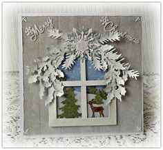 Hand made Christmas card  Christmas window by CarmenHandCrafts, €6.50