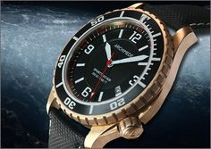 ARCHIMEDE SportTaucher Bronze - The ARCHIMEDE Pilots watches have found many friends over the years. We have been asked many times if we will offer the SportTaucher with a Bronze case some day. For that reason we look forward now to present this special diving watch. The case is equipped with the solid screw down stainless steel case back. As an option a display back with sapphire chrystal is available.