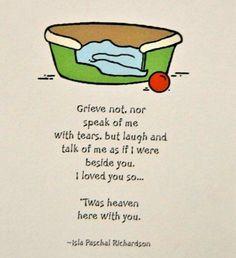 Grieve not...