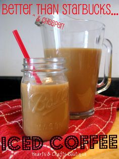 {better than Starbucks} Iced Coffee Recipe. I just might have to try this.