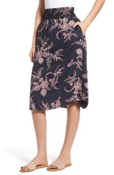 885fbe0d5e63 Free shipping and returns on Hinge Smock Waist Midi Skirt at Nordstrom.com.  Equally