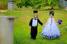 Halloween Costume Bride of Frankenstein Tutu Dress by atutudes, $99.95