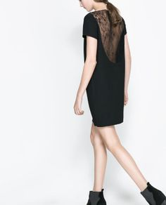 DRESS WITH LACE BACK from Zara