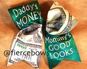 Daddys Money Mommys Good Looks Cheer Bow