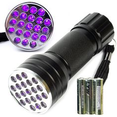 Escolite 21 Led Uv flashlight 395nm Ultraviolet blacklight Spot Scorpions Pet urine leak ,minerals detector ** You can get more details by clicking on the image. (This is an affiliate link and I receive a commission for the sales)