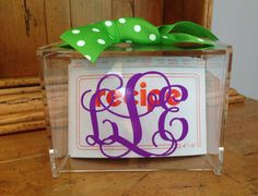 Personalized Recipe Box with 60 6 x 4 Blank by MonogramCollection