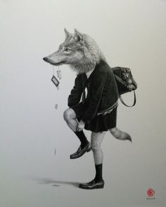 Japanese artist Takumi Kama has used his fear of schoolgirls as inspiration for this series of portrait illustrations. The portraits depict schoolgirls in typical poses, but with animal heads and bodyparts.