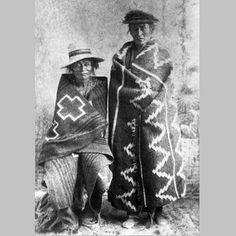 Two Navajos wrapped in blankets, ⊕ 1880.