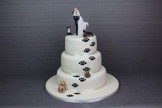 Soooo me - Calculating Infinity Creative Wedding Cakes, Themed Wedding Cakes, Square Wedding Cakes, Wedding Cake Designs, Cute Wedding Ideas, Wedding With Kids, Dog Wedding, Wedding Stuff, Wedding Dreams