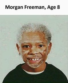 Morgan Freeman at Age 8