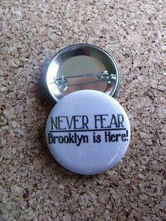 Yo necesito! Newsies Never Fear Brooklyn is Here 15 inch Button by CuteAsAGeek, $2.00