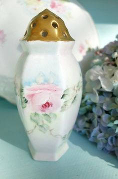 Vintage Hand-Painted Roses Hat Pin Holder