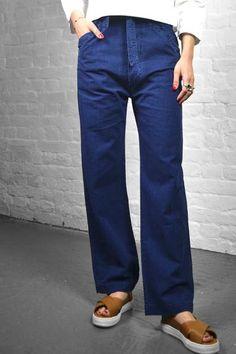 Soeur Venezuela Seerseeker Blue Straight Waist Trousers