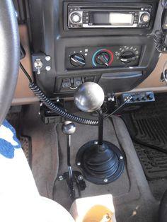 "Old School CJ Style Shifter in TJ - ""Half Console"" TJ mod + custom transfer case shifter - JeepForum.com"