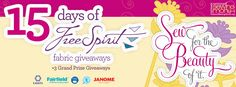 FreeSpirit Fabrics 15 Days of Giveaways http://woobox.com/mkynuq/je0n8w