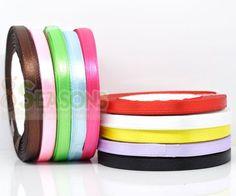 Satin Ribbon Scrapbooking, Aha, Ten Color, very bright.