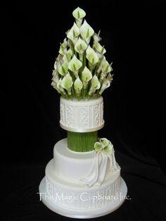 calla lilly cake