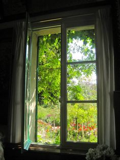 Monet's House Looking into the front from his window. Nature inspires everywhere.