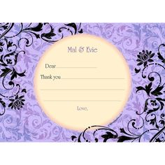 Check out Evil Heirs Personalized Thank You (Each) - Custom Thank You Cards and Personalized Party Supplies from Birthday In A Box