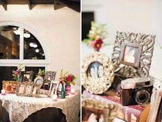 Family photo table décor #YourMiamiWedding
