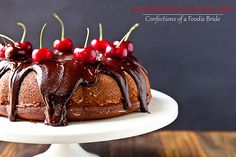Roasted Cherry Chocolate Cake by foodiebride, via Flickr #chocolates #sweet #yummy #delicious #food #chocolaterecipes #choco