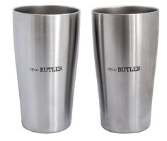 Vacuum Insulated Stainless Steel Pint By Epic Butler, 16 oz, Pack of 2 ** Check this awesome image  : Camping equipment