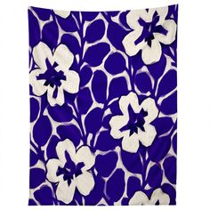 Jacqueline Maldonado Painted Floral Cobalt Tapestry | DENY Designs Home Accessories