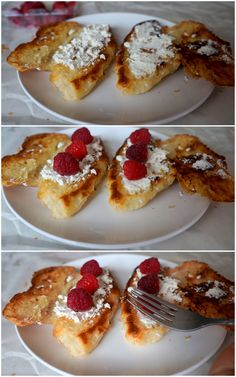 goat cheese & raspberry croissantwich - sweet & savory combination, perfect for breakfast.