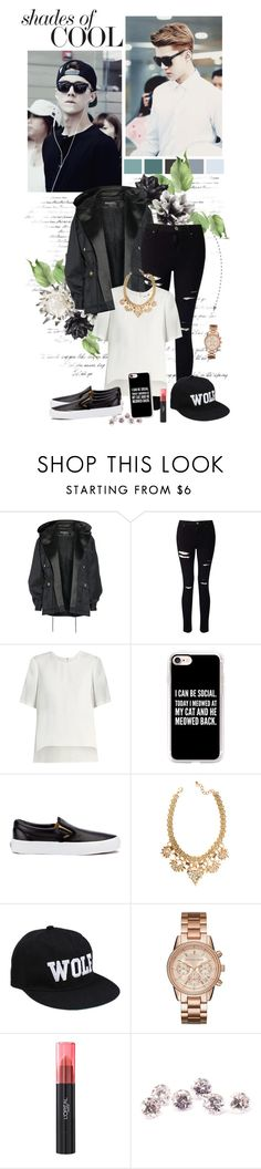 """""""Shades of cool"""" by auby ❤ liked on Polyvore featuring Balmain, Miss Selfridge, ADAM, Casetify, Vans, Michael Kors and L'Oréal Paris"""