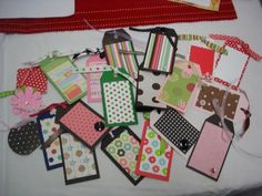 Gift tags. Not Christmas themed, but you could make it with Christmas paper. :)