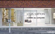 pop-up between Louis Vuitton and Comme des Garcons