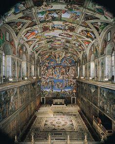 Sistine Chapel. Cappella Sistina (Italian) Sacellum Sixtinum (Latin). Vatican City, Rome