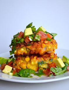 Corn Cakes & Avocado Salsa - this recipe came together in minutes!