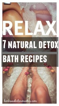 Give yourself a treat of a lifetime with these 7 fabulous Detox bath. Totally doing this!