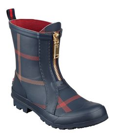 Another great find on #zulily! Blue & Red Ryann Ankle Rain Boot #zulilyfinds