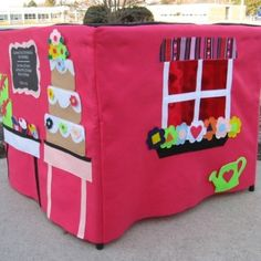 "card table playhouse. Except I want to put ""outside"" stuff on the outside, and ""inside"" stuff on the inside, so its not just blank on the inside. @Jenny Matthews"