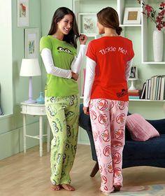 Women's Sesame Street® Pajama Sets - want the Elmo pair!