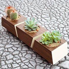 Mid Century Modern Planter, Contemporary Planter, Modern Wood ...