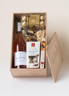 The Delicious Dry Rosé Combination Gift Box Gift Delivery, Whiskey Bottle, Drinks, Rose, Flowers, Gifts, Drinking, Beverages, Pink