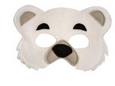 POLAR Bear Felt Mask for Children by MagicalAttic on Etsy
